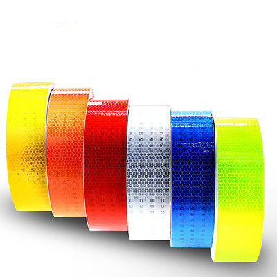 Safety Caution Reflective Tape Warning Tape Sticker Self Adhesive Tape 2 3m
