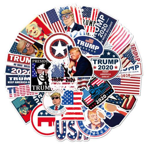 50pcs Donald Trump 2020 President Campaign Stickers Car Bumper/Republican Party