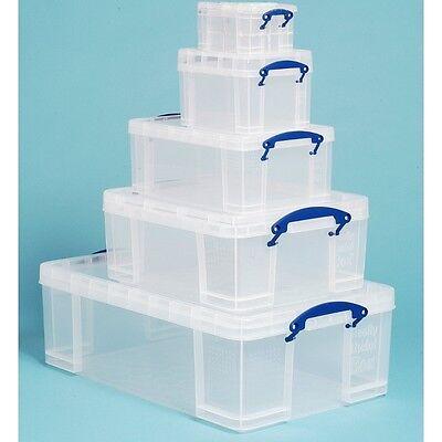 REALLY USEFUL BOX 5in1 Bonus Pack - 81,6 Liter (50L/18L/9L/3L/1,6L) - transparen