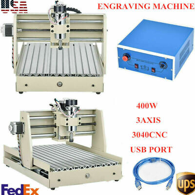 Usb 3 Axis 3040 Cnc Router Engraver 400w Wood Carving Engraving Drill Mill