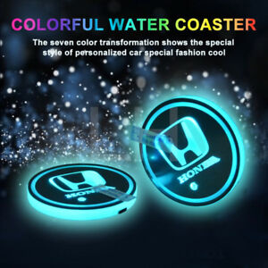 Honda Waterproof LED Cup/Bottle Holder/Pad/Coaster Rechargeable