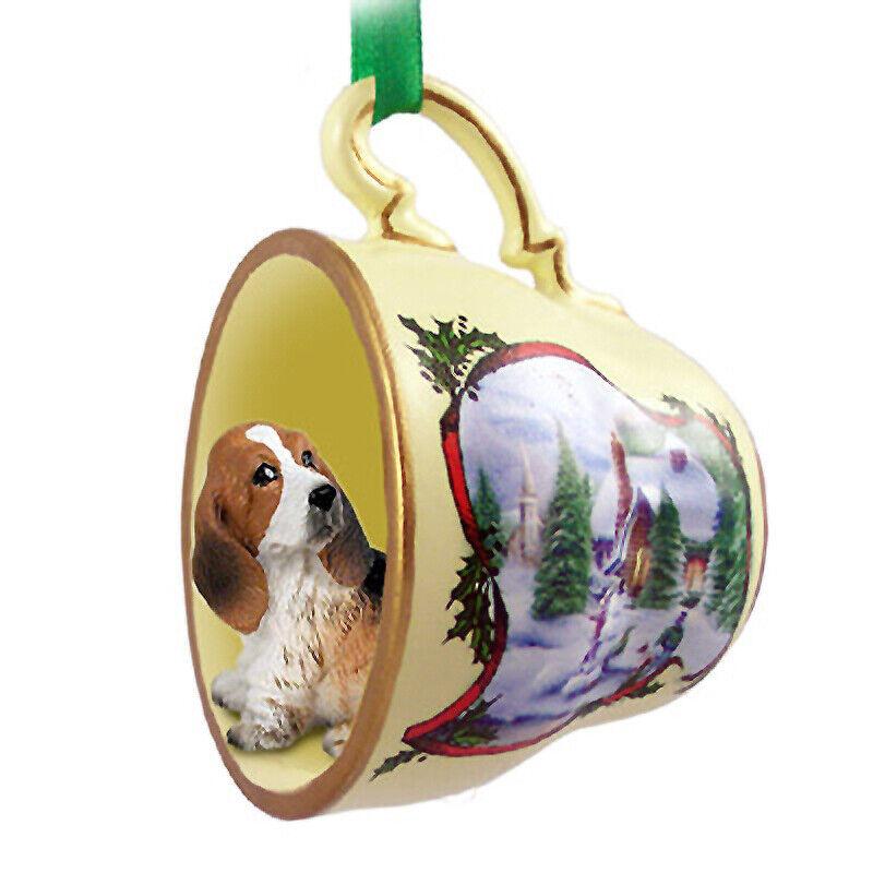 Basset Hound Christmas Ornament Teacup