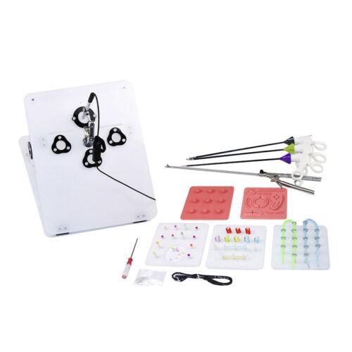 Laparoscopic Surgery Training Box Simulated Surgical Instrument Trainer USA SHIP