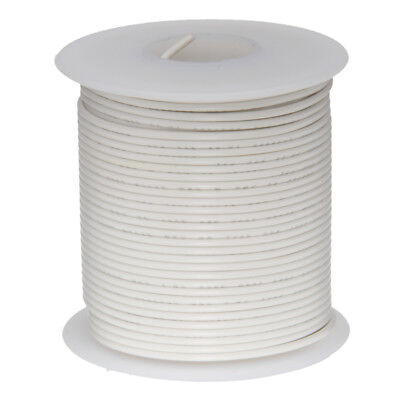 30 Awg Gauge Stranded Hook Up Wire White 100 Ft 0.0100 Ptfe 600 Volts