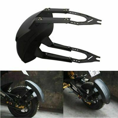 Black Motorcycle Plastic Rear Wheel Cover Fender Mudguard with Bracket Durable