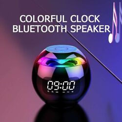 Alarm Clock LED Smart Bluetooth Mini Speaker 5.0 FM Radio MP3 Music Play
