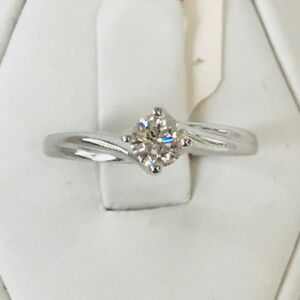 RD 0.40CT ENGAGEMENT RING 14K WHITE GOLD ON SALE NOW 50% OFF!!!