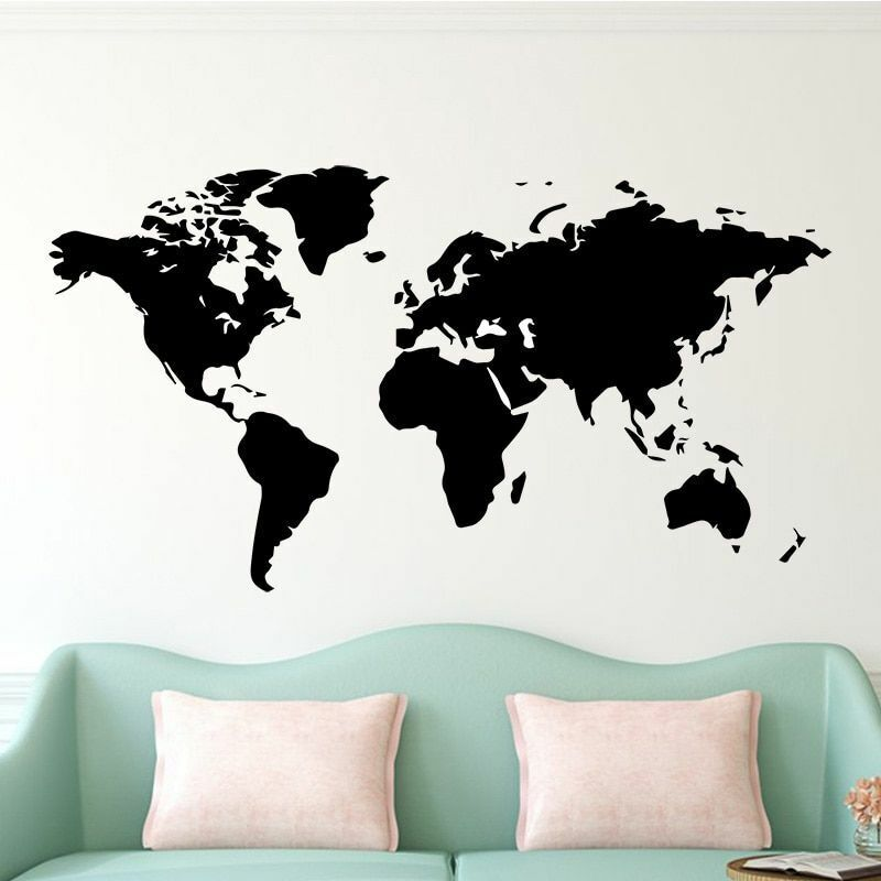 World Map Wall Sticker House Living Room Decoration