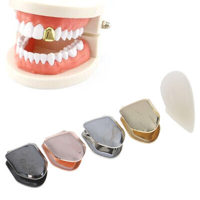 14K Gold Plated HipHop Teeth Grill False Whitening Plated Small Single Tooth PHN Fake Gold Tooth Teeth