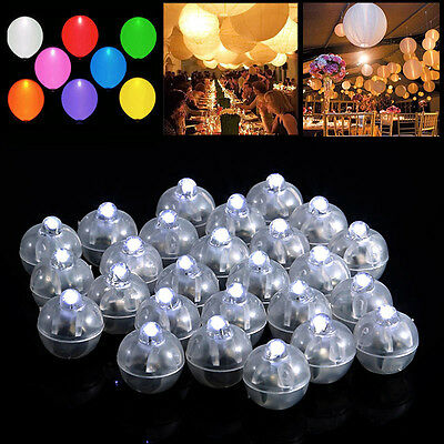 50PCS Led White Ball Lamps Balloon Light Paper Lantern Wedding Party Decoration - Lighted Lanterns