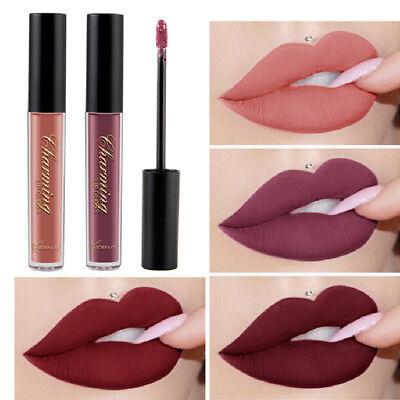 Women 12 Color Liquid Matte Waterproof Lipstick Lasting Lip Gloss Lip Stain New Long Lasting Lip Stain