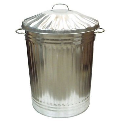 90L Liter Galvanised Metal Bin Home Garden Rubbish Waste Dustbin Animal Storage for sale  Shipping to Ireland