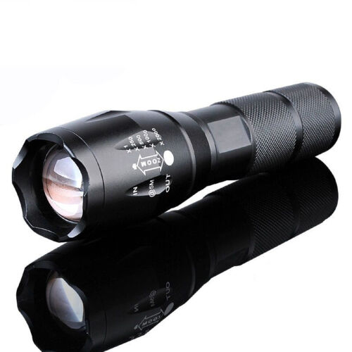 Bright 10000LM LED Flashlight Zoomable Focus Torch Light Lamp 18650/AAA