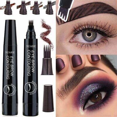 waterproof Eyebrows Microblading Pen 4 Fork Tips Fine Sketch BEST SELLER