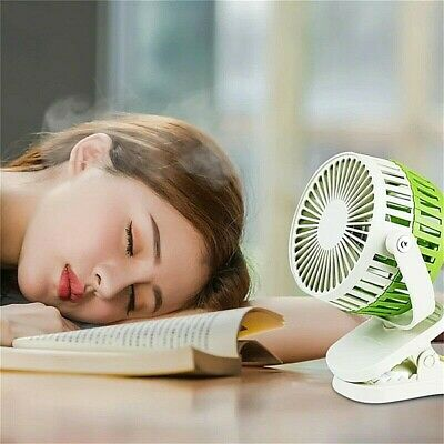 Rechargeable Fan - Portable USB Clip on Fan, 3-Speed Modes, Strong Airflow