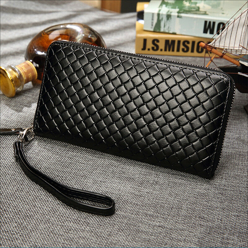 Large Capacity Men Wallet Cell Phone Pocket Long Zipper Clutch Purse Wristband Clothing, Shoes & Accessories