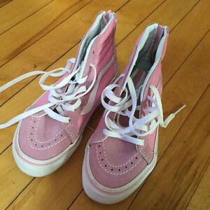 Girl's Pink White Sk8 Hi Vans Sneakers! Size 11. London Ontario image 3