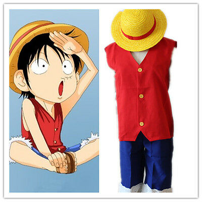 One Piece Anime Halloween Costumes (Halloween Anime One Piece Monkey D. Luffy 1Th Cosplay Costumes Luffy)