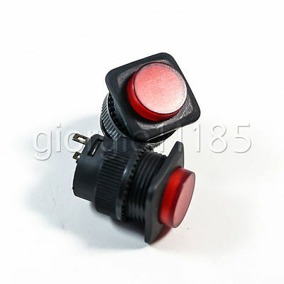 Us Stock 5pcs Momentary Onoff Push Button Switch Red Led Light R16-504bd 4 Pin