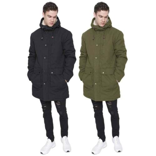 Mens Heavy Weight High Quality Cotton Parka Winter Coat Fishtail Long Jacket 395cfa1dfc6c