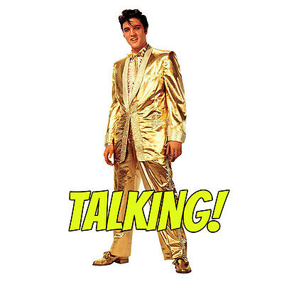 Gold Lame Elvis (ELVIS PRESLEY TALKING Gold Lame Suit Lifesize CARDBOARD CUTOUT Standup)