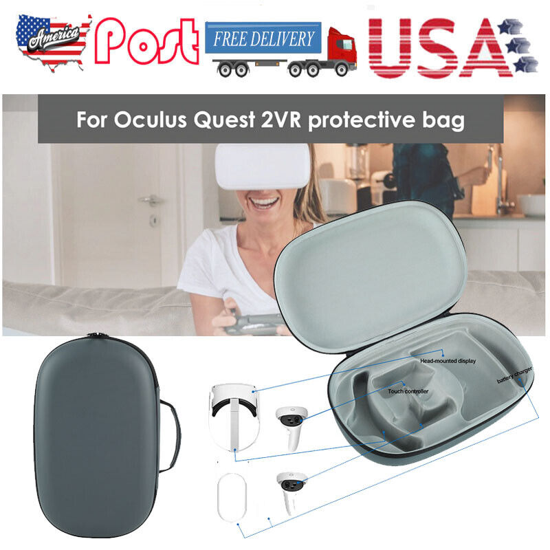 Carrying Case Scratch-proof Protection VR Headset Storage Bag For Oculus Quest 2