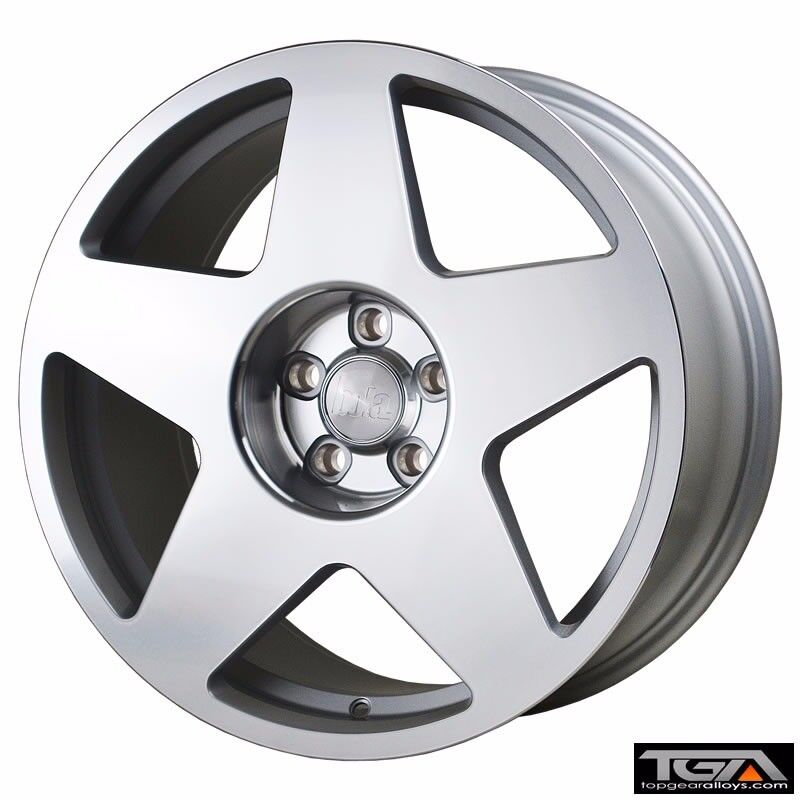 "19"" Bola B10 Silver with a Polished Face for VW Audi Seat Etc"