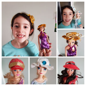 Matching Headbands and Barbie's hat