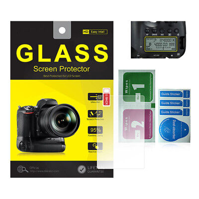 Tempered Glass Screen Protector w/ Top Panel LCD for Canon EOS 6D Camera