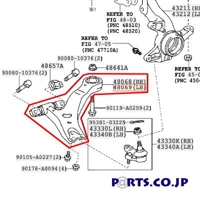 TOYOTA 4806908040 GENUINE OEM CONTROL ARM Free Ship From JAPAN