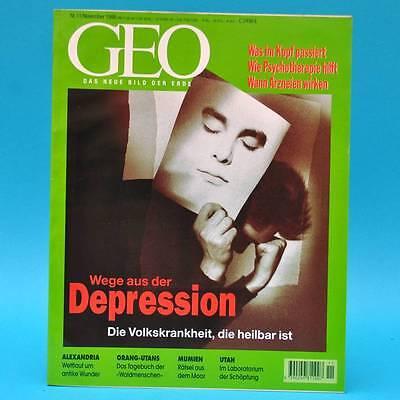 GEO Magazin 11/1998 Alexandria Depression Moorleichen Utah Satellitenbilder