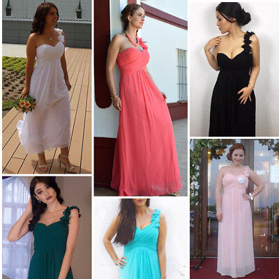 Ever Pretty US One Shoulder Long Bridesmaids Dress Evening Party Prom Gown 09768