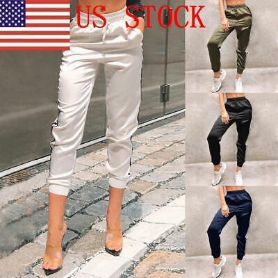 Slim Stripe Pant (H/H Women Pants Side Stripe Slim Skinny Leggings Stretchy Jeggings Pencil Pant )