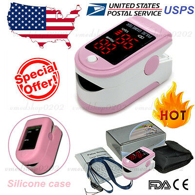 NEW FDA FINGERTIP PULSE OXIMETER BLOOD OXYGEN METER SPO2 HEART RATE PATIENT MONITOR