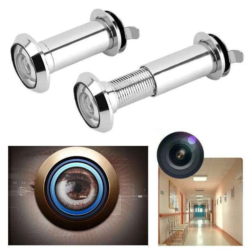 Adjustable Door Peephole Wide Angle Eye Viewer Spy Sight Hole Glass Lens 220°