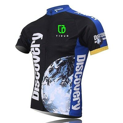 Discovery Channel Men's Cycling Jersey Full Zip MTB Mountain Bike Jerseys