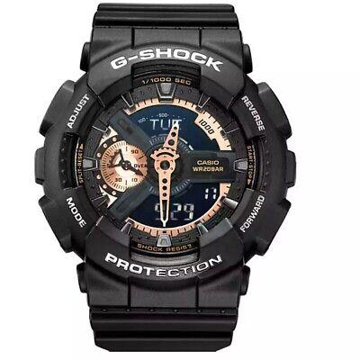 NEW G-Shock GA110RG-1A Men's Watch Black Dial Resin Chronograph