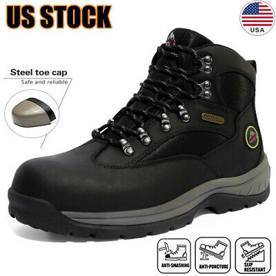 Mens Safety Shoes Steel Toe Work Boots Indestructible Waterproof Boots Shoes Us