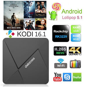 DOLAMEE D5 Android 5.1 Smart TV Box,KODI,Plug & Play Ready