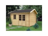 Garden building, summerhouse, log cabin (13 X 10 FT, 44 MM)