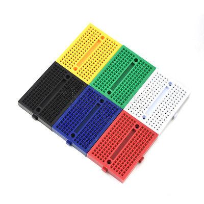 1set 6 Colors Mini Solderless Prototype Breadboard Small Plates 170 Tie-points