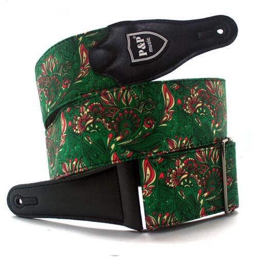 Vintage Acoustic Electric Guitar Strap Belt Hippie Folk Styl