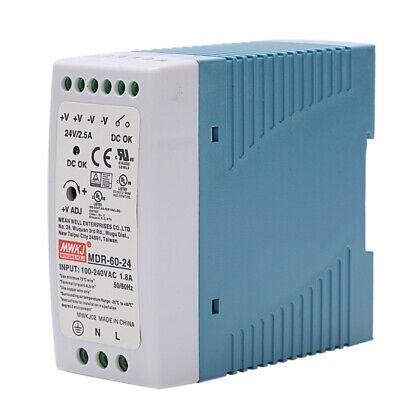 Mdr-60 24v 60w Din Rail Power Supply Ac-dc Driver Voltage Regulator Power Suply