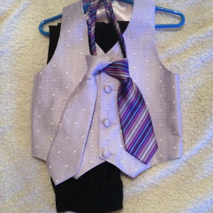 Light Purple Vest and Ties with matching pants! 3T