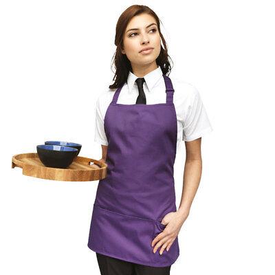 Premier Colours 2in1 Apron PR159 3 Pocket Short Chefs Kitchen Cooking Bib Apron