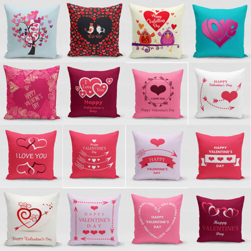 Valentine S Day Throw Pillow Case Heart Shaped Forever Lover Cushion Cover Gift Ebay