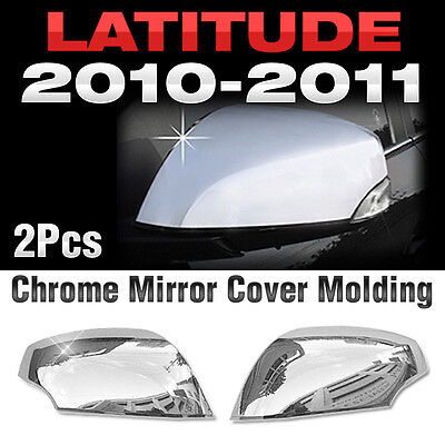 Chrome Side Mirror Cover LED For 10 11 Latitude New SM5