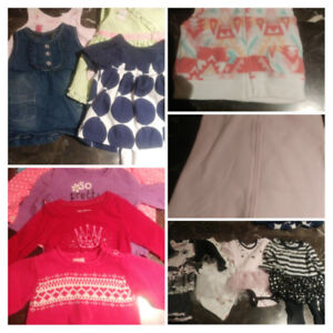 EUC - Complete wardrobe for a baby girl. NB to 6 mths.
