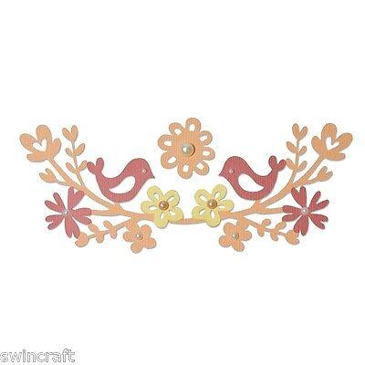 Sizzix Thinlits Die Set 2PK Love Birds 660827 New