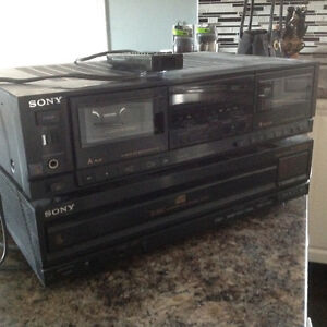 Cassette deck and 5 disk CD player Peterborough Peterborough Area image 1
